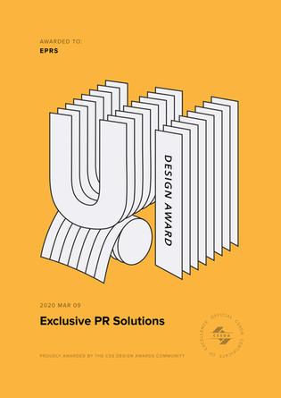 UI / UX Award, ExclusivePRS.com
