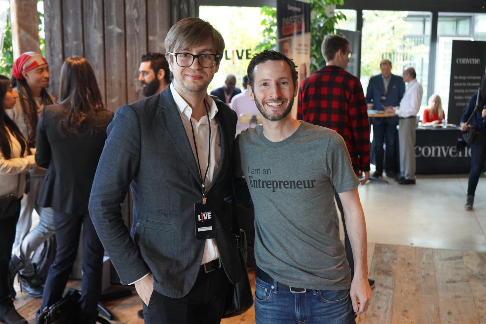 Valentin Saitarli and Jason Faifer ( Editor-in-Cheif Entreprenuer.com)