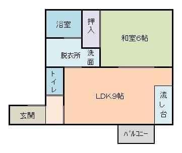 スカイハイツ101-201間取