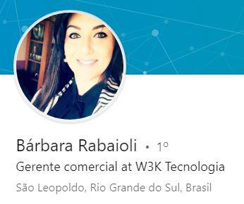 Bárbara Rabaioli, Gerente comercial at W3K Tecnologia