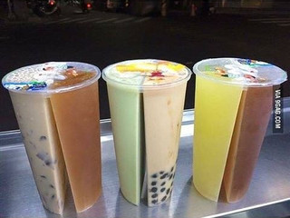 2 Flavor Boba Cups!! (Dual Cups)