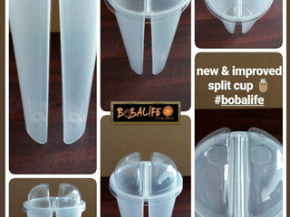 New & Improved Dual Boba Cup (aka split cup)