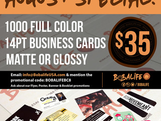 AUGUST SPECIAL : Business Card PRINT SALE