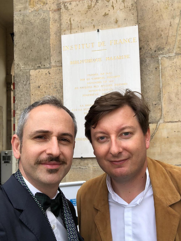 Smith D'Oria en déplacement à l'Institut de France