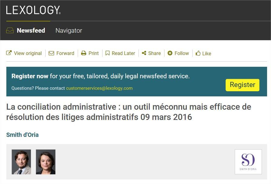 Avocat Fonction Publique | Conciliation Administrative