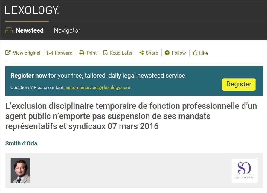 Avocat Fonction Publique | Exclusion disciplinaire