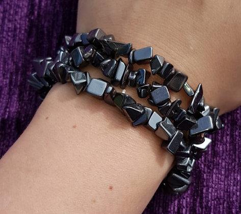 Hematite Chip Bracelet