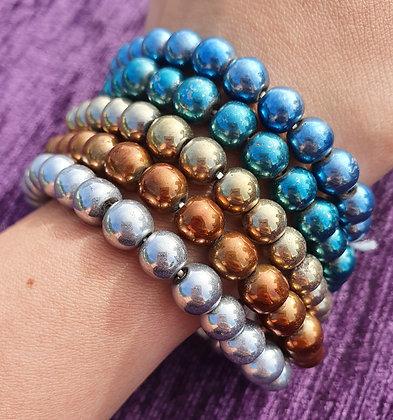 Coloured Titanium Hematite Bracelet