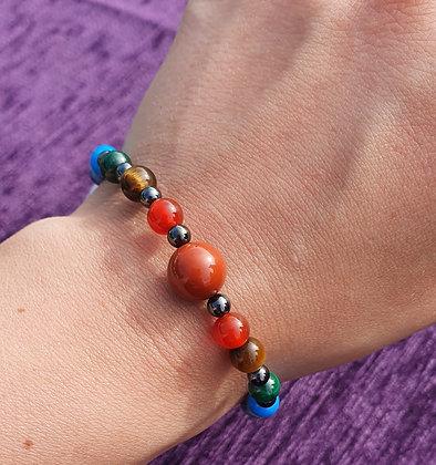 Chakra Hematite Bracelet