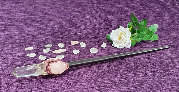 Extra Large Rose Quartz Wand