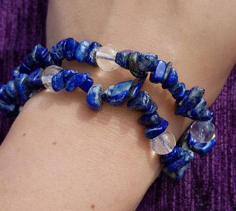 Sodalite & Clear Quartz Bracelet