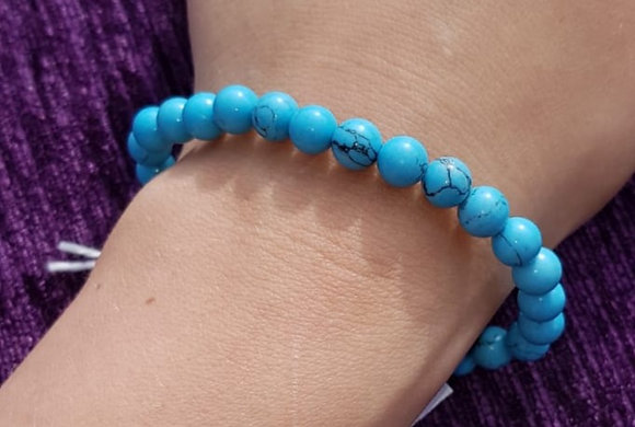 Turquoise Tag Charm Bracelet
