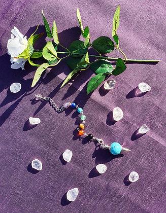 Turquoise Howlite Chakra Pendulum