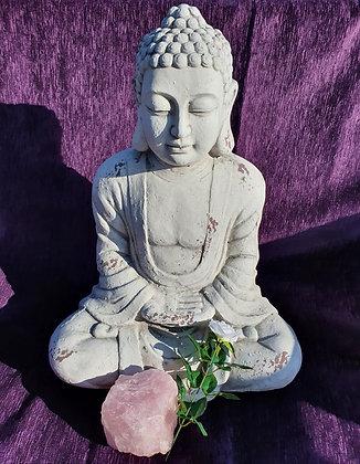 White Garden Buddha 69cm