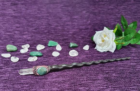 Medium Green Agate Wand