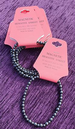Magnetic Hematite Anklet