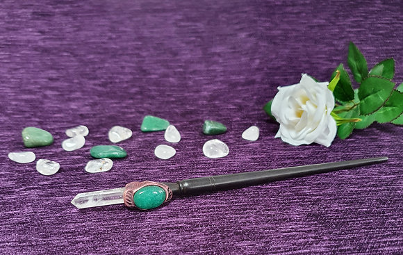 Medium Green Agate Wand