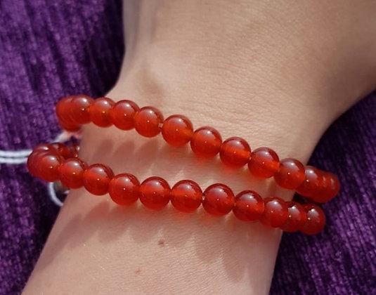 Carnelian Tag Charm Bracelet