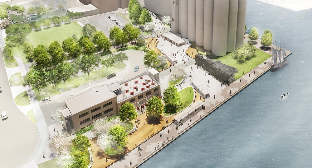 The new Bathurst Quay Neighbourhood Plan promenade
