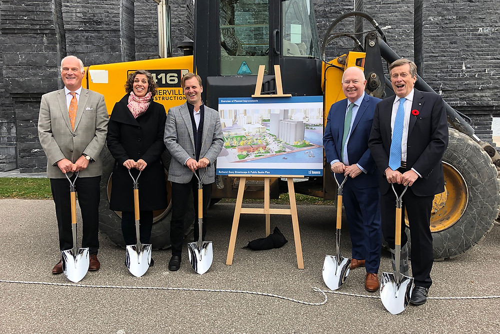 Bathurst Quay Neighbourhood Plan ground-breaking ceremony was held at Eireann Quay on October 25, 2019