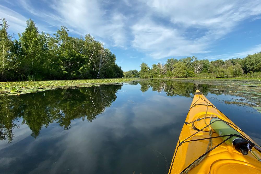 Summer kayaking through the Toronto Island