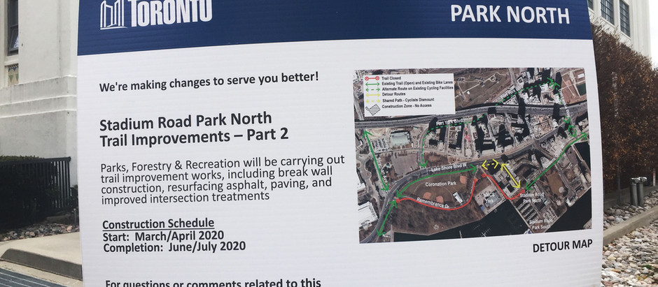 Stadium Park North trail improvements
