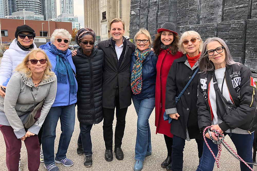 Councillor Joe Cressy with some past and present members of the Bathurst Quay Neighbourhood Association board members