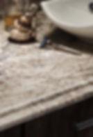 Laminate edge option Valencia for kitchen and bathroom countertops