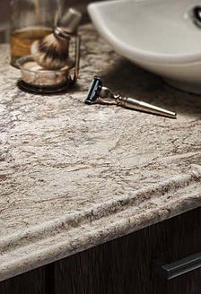 Laminate edge option Valencia for kitchen and bathroom countertops