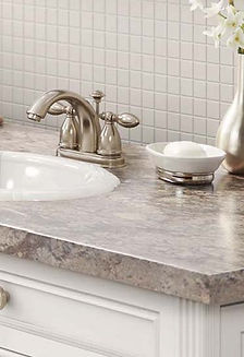 Laminate edge option Ora for kitchen and bathroom countertops