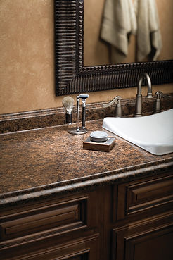 Laminate kitchen and bathroom countertop