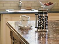 Laminate kitchen and bathroom countertops