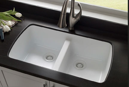 Karran acrylic and stainless steel sinks for kitchen and bathroom
