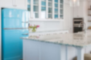 Recycled glass countertops made by Vetrazzo and Geo's for kitchen and bathroom countertops