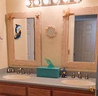 Solid surface corian bathroom