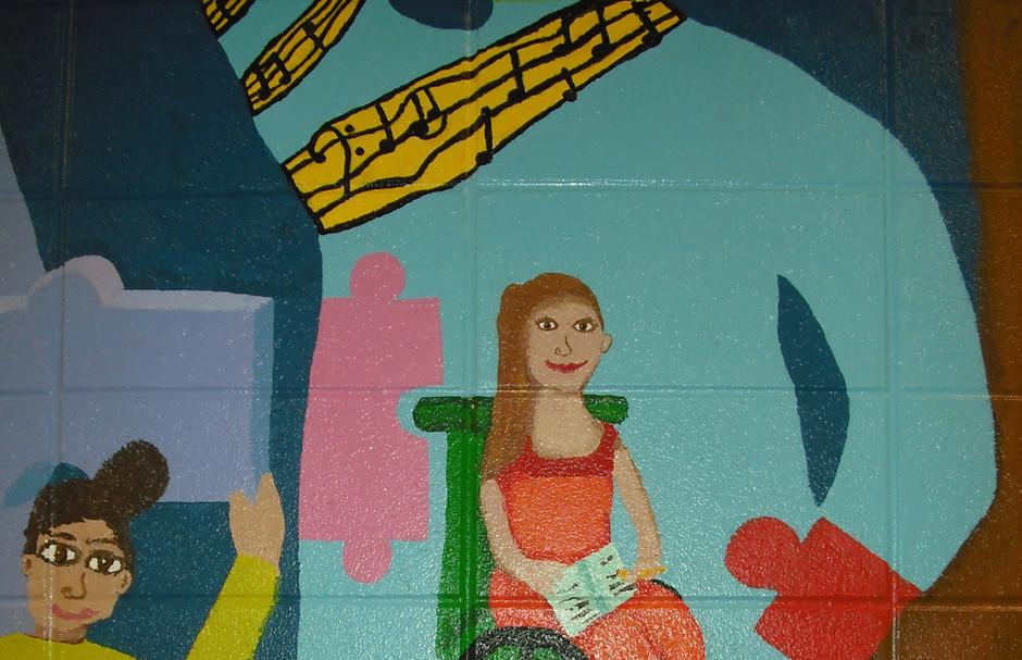 South school mural detail