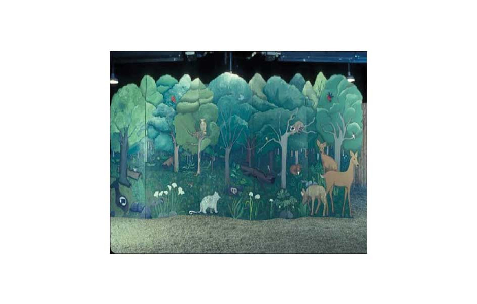 Prairie mural, Ryerson Conservation Center, Riverwoods IL, created with campers