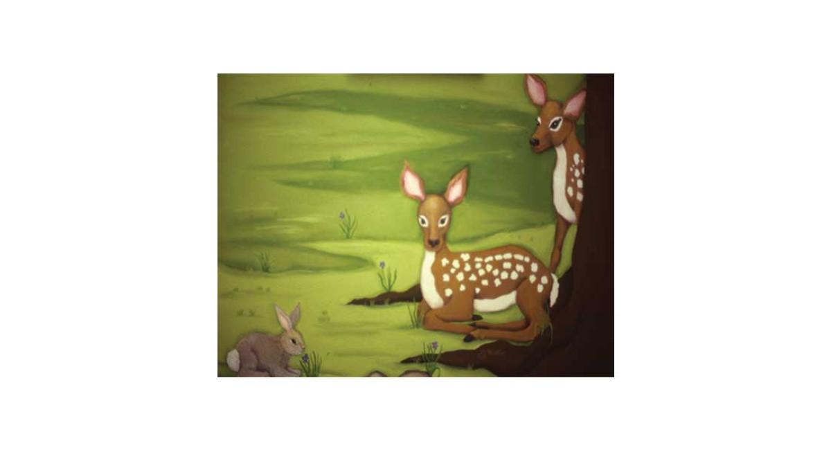 Baby Deer, acrylic