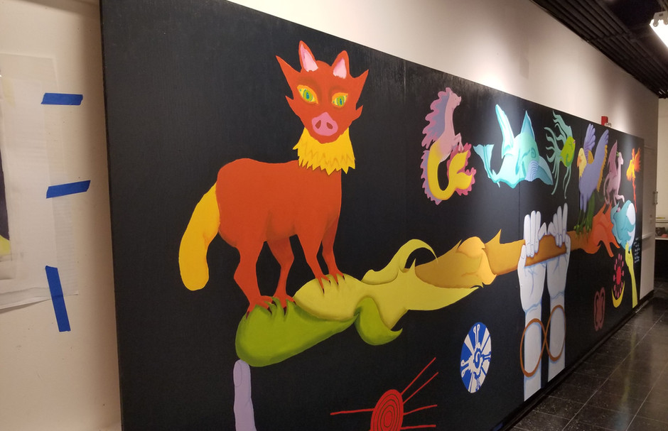 Harmony, 6'x 20', created with high school students, The Art Center of Highland Park