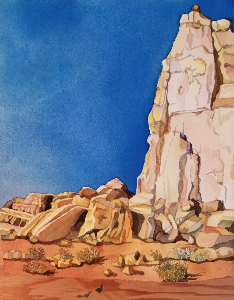 Arches Tor, (Arches NP). watercolor
