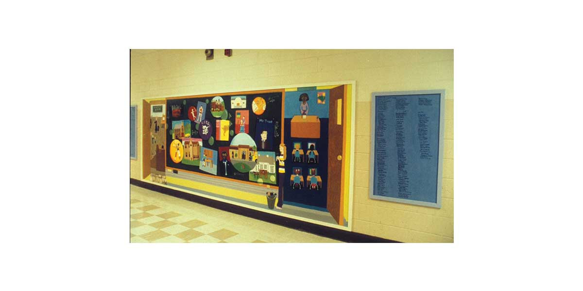 History of Education, Centralia Middle School, created with students, Centralia, IL, 6' x 24'