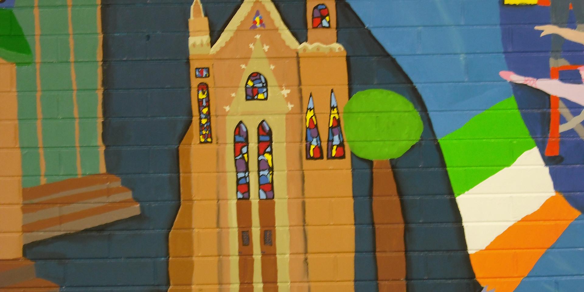 detail Addison History Mural, Fullerton Elementary School