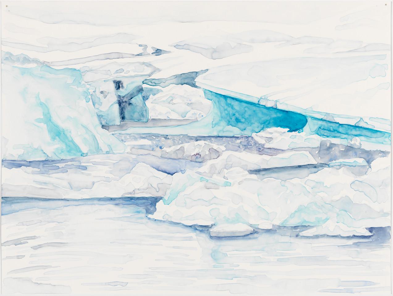 "Ice Palace, watercolor on yupo, 11"" x 13"""