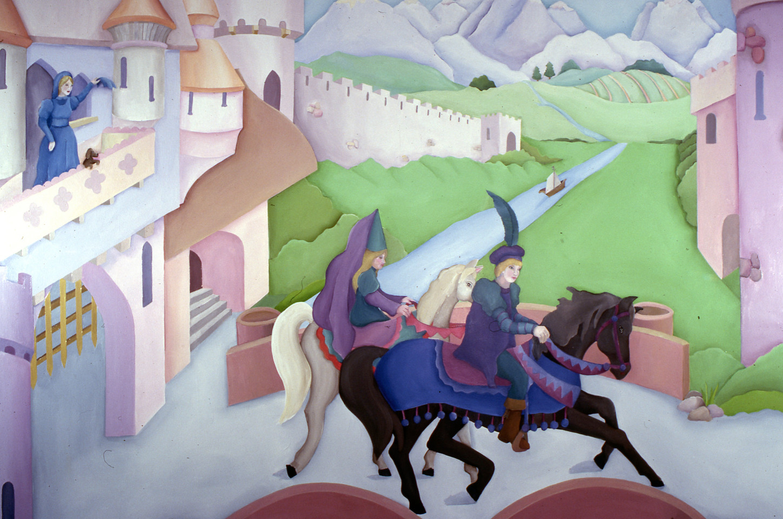 Detail, Steger playroom mural
