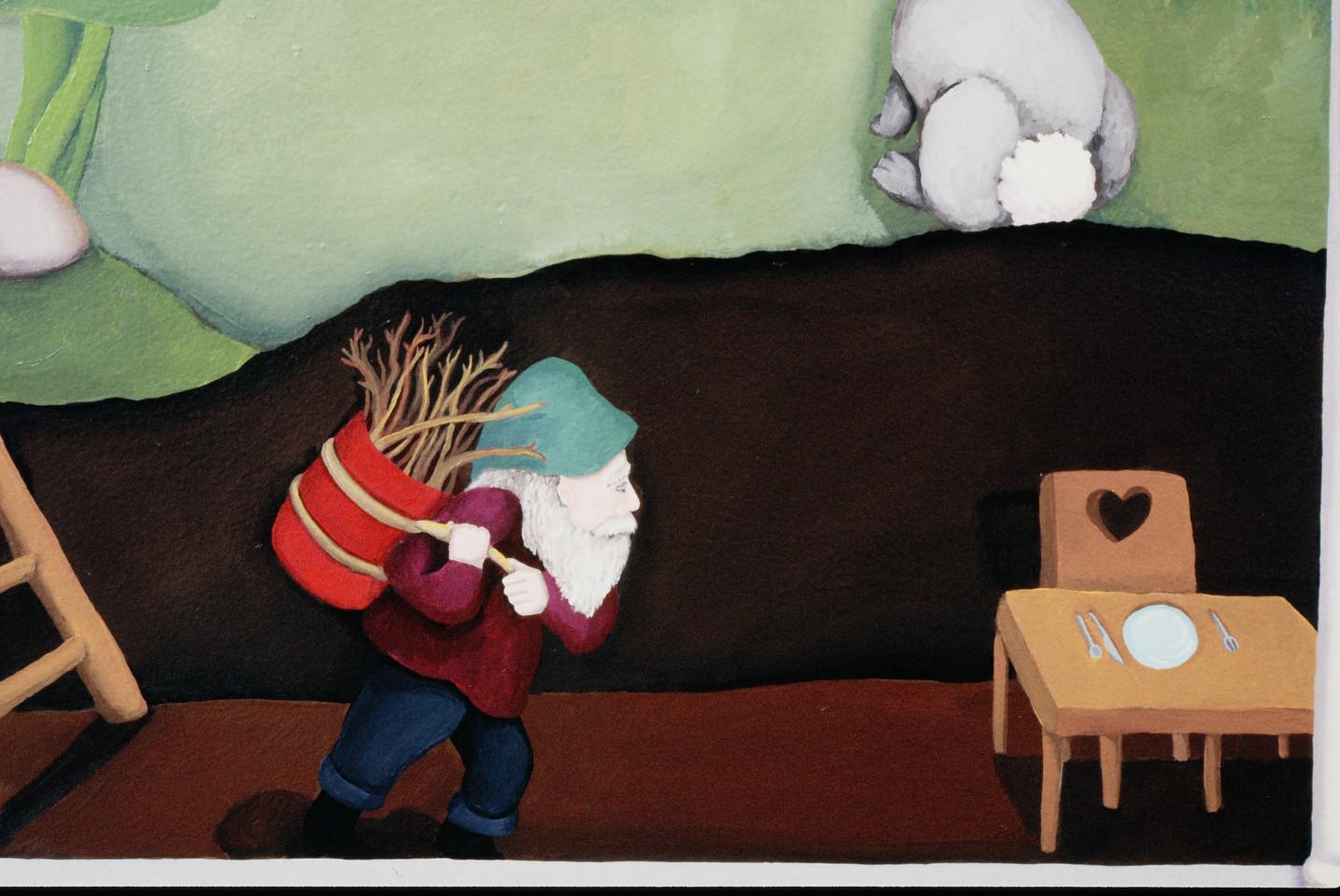 detail, Inger Boye Children's Room mural