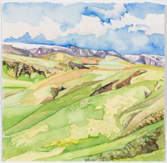 """Icelandic Valley Cut, watercolor, 5"""" x 5"""""""