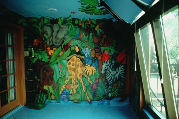 private home children's mural, Chicago IL