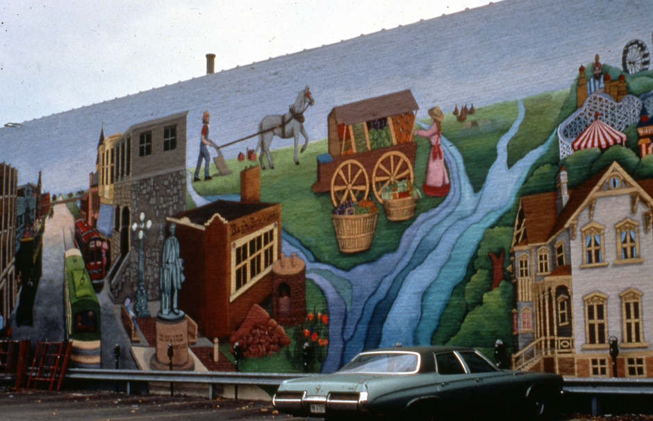 Reflections of Ravenswood, created with 60 participants, Chicago IL ; 33' x 90