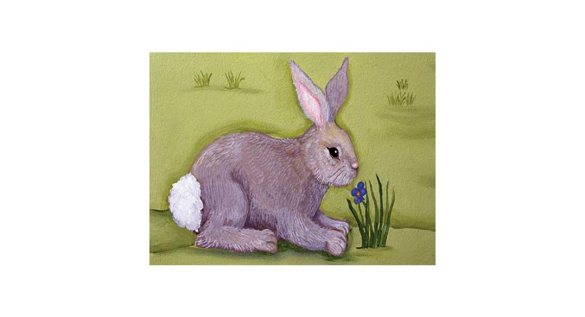 Bunny, acrylic