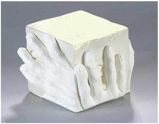 """It Is Written ceramic w/acrylic 6"""" x 6"""" x 5"""""""
